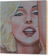 Marilyn Wood Print by Reneza Waddell