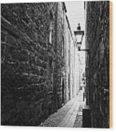 Martins Lane Narrow Entrance To Tenement Buildings In Old Aberdeen Scotland Uk Wood Print by Joe Fox