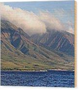 Maui Pano Wood Print by Scott Pellegrin