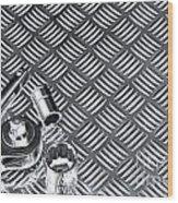 Mechanical Socket Background Wood Print by Richard Thomas