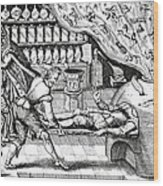 Medical Purging, Satirical Artwork Wood Print by