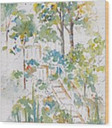 Memories Lucien Lake Wood Print by Pat Katz