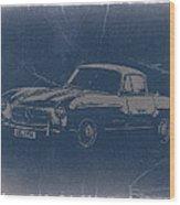 Mercedes Benz 300 Sl Wood Print by Naxart Studio