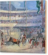 Mexico: Bullfight, 1833 Wood Print by Granger
