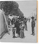 Mexico City - Alameda During Holy Week - C 1906 Wood Print by International  Images