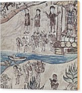 Mexico Indians C1500 Wood Print by Granger