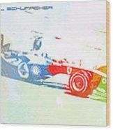 Michael Schumacher Wood Print by Naxart Studio