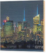 Mid-town Manhattan Twilight I Wood Print by Clarence Holmes