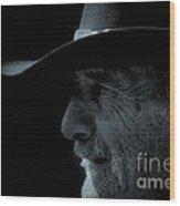 Midnight Cowboy Wood Print by Christine Till