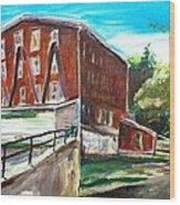 Millbury Mill Wood Print by Scott Nelson