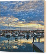 Mindarie Sunrise Wood Print by Imagevixen Photography