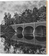 Mirror Bridge Wood Print by Peter Chilelli