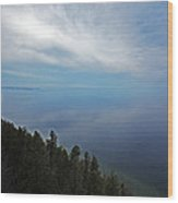 Mirror Clouds Wood Print by Ty Helbach