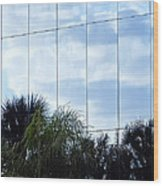 Mirrored Facade 1 Wood Print by Stuart Brown