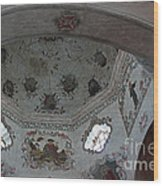 Mission San Xavier Del Bac - Vaulted Ceiling Detail Wood Print by Suzanne Gaff