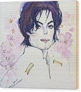 Mj In Sakura Wood Print by Hitomi Osanai