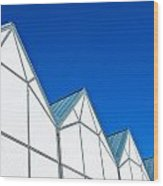 Modern Architecture Wood Print by Tom Gowanlock
