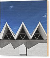 Modern Building Roofing Wood Print by Eddy Joaquim