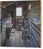 Molson Ghost Town Storage Shed Wood Print by Daniel Hagerman