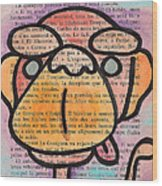 Monkey Business Wood Print by Jera Sky