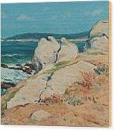 Monterey Coast Wood Print by Guy Rose