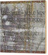 Mooresville - Belle Mina Junior High School 1967 Wood Print by Kathy Clark