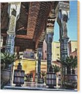 Morocco Architecture II Wood Print by Chuck Kuhn