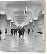 Moscow Underground Wood Print by Stelios Kleanthous