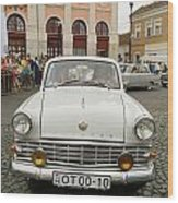 Moscvich Old Car Wood Print by Odon Czintos
