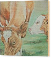 Mother And Baby Wood Print by Teresa Smith