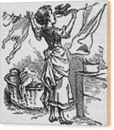 Mother Goose: Maid Wood Print by Granger