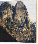 Mountains Of Yosemite . 7d6167 . Vertical Cut Wood Print by Wingsdomain Art and Photography
