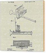 Mouth Organ 1876 Patent Art Wood Print by Prior Art Design