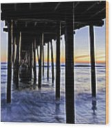 Nags Head Pier - A Different View Wood Print by Rob Travis