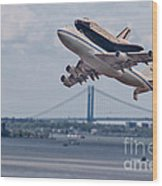 Nasa Enterprise Space Shuttle Wood Print by Susan Candelario