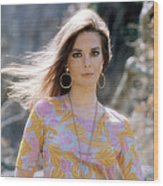 Natalie Wood, Wearing A Pucci Design C Wood Print by Everett