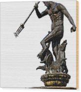 Neptune God Of The Sea Wood Print by Artur Bogacki