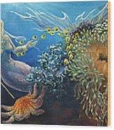 Neptune's Daughter Wood Print by Ann Beeching