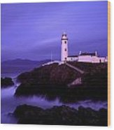 Newcastle, Co Down, Ireland Lighthouse Wood Print by The Irish Image Collection