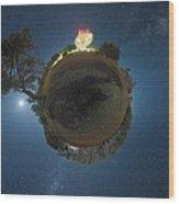 Night Sky Over Parkes Observatory Wood Print by Alex Cherney, Terrastro.com