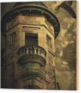 Night Tower Wood Print by Svetlana Sewell