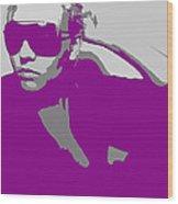 Niki In Glasses  Wood Print by Naxart Studio