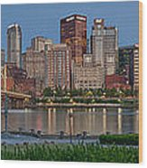Nor'side Pano Wood Print by Jennifer Grover