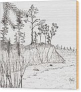 North Shore Memory... - Sketch Wood Print by Robert Meszaros