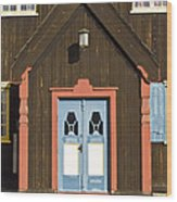 Norwegian Wooden Facade Wood Print by Heiko Koehrer-Wagner