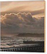 November Storm Wood Print by Sharon Lisa Clarke