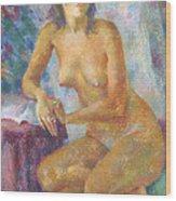 Nu 82 Wood Print by Leonid Petrushin