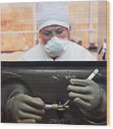 Nuclear Fuel Production, Russia Wood Print by Ria Novosti