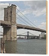 Ny Bridges 1 Wood Print by Art Ferrier