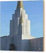 Oakland California Temple . The Church Of Jesus Christ Of Latter-day Saints . 7d11377 Wood Print by Wingsdomain Art and Photography